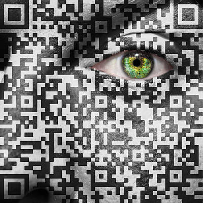 Matrix Code Photograph - Slave To The Maze by Semmick Photo