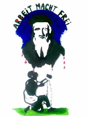 Cabot Painting - Evil Slave Trader John Cabot by MERLIN Vernon