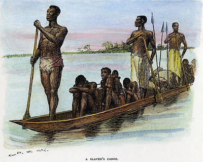 Slaves Drawing - Slavery Africa, C1885 by Granger