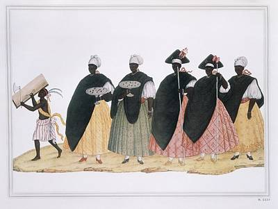 Slaves Dressed For Fiesta Del Rosario Art Print by Everett