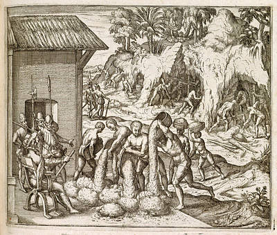 Guinea Wall Art - Photograph - Slaves Quarrying by British Library / Science Photo Library
