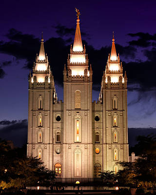 Photograph - Slc Lds Temple by Kayta Kobayashi