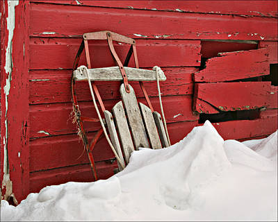 Photograph - Sled On Red by Nikolyn McDonald
