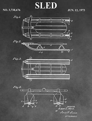 Drawing - Sled Patent by Dan Sproul