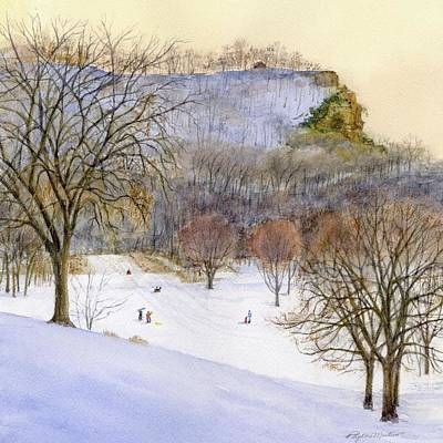 Painting - Sledding by Phyllis Martino