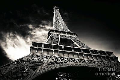 Photograph - Sleek Eiffel Tower by John Rizzuto
