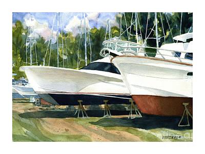 Sleek Hulls Art Print