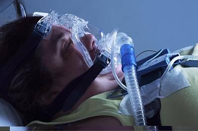 Sleep Disorder Photograph - Sleep Apnoea Treatment by Science Photo Library