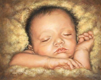 Walsh Painting - Sleep Tight My Love by Donna  Hillman Walsh