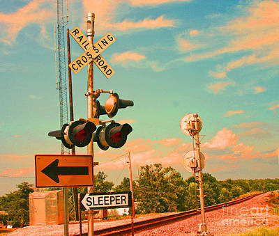 Photograph - Sleeper Rail Road Crossing Missouri by Beth Ferris Sale