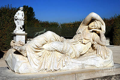 Sleeping Ariane At Versailles  Art Print by Olivier Le Queinec