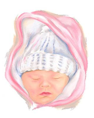 Pastel - Sleeping Baby In Winter by MM Anderson