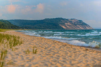 Oats Photograph - Sleeping Bear Dunes At Sunset by Sebastian Musial