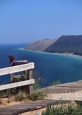 Photograph - Sleeping Bear Dunes Boardwalk by Dan Sproul