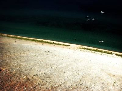 Sleeping Bear Dunes From The Top Down Art Print by Michelle Calkins
