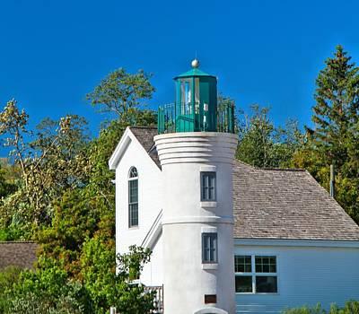 Photograph - Sleeping Bear Dunes Lighthouse by Dan Sproul