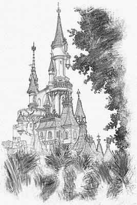 Sleeping Beauty Castle Art Print