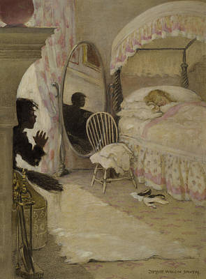 Indoor Painting - Sleeping Beauty Circa 1916 by Aged Pixel