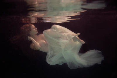 Fashion Model Photograph - Sleeping Beauty by Gabriela Slegrova