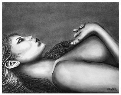 Drawing - Sleeping Beauty  by Peter Piatt
