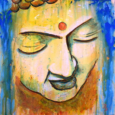 Painting - Sleeping Buddha Head by Bob Baker