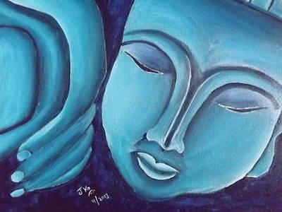 Sleeping Buddha Painting - Sleeping Buddha by Jagjeet Kaur