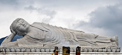 Photograph - Sleeping Buddha by Marek Poplawski