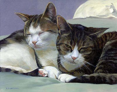 Painting - Sleeping Buddies by Alecia Underhill