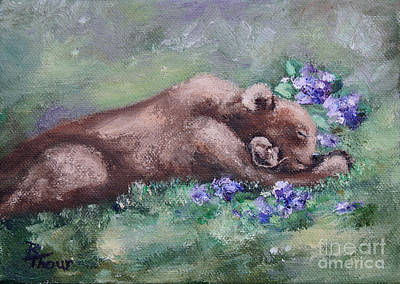 Painting - Sleeping Buddies II by Brenda Thour