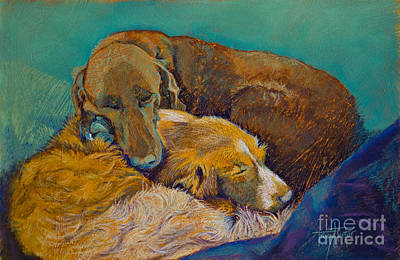 Pastel - Sleeping Double In A Single Bed by Tracy L Teeter