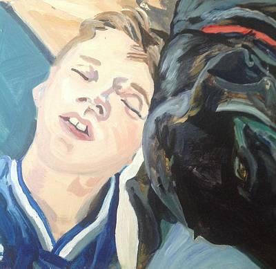 Wall Art - Painting - Sleeping Duo by Kerrie B Wrye