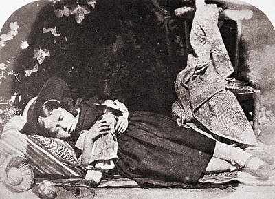 Painting - Sleeping Girl, C1845 by Granger