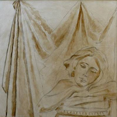 Painting - Sleeping Girl by Deborah Carroll