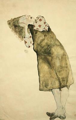 Gustav Klimt Painting - Sleeping Girl by Celestial Images