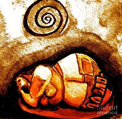 Wall Art - Painting - Sleeping Goddess by Jakki Moore