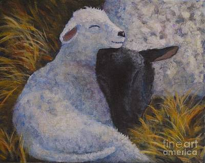 Painting - Sleeping In A Manger by Jana Baker