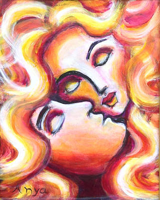 Painting - Sleeping Lovers by Anya Heller