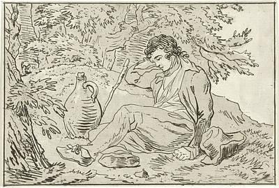 Sleeping Man, Hermanus Fock Art Print