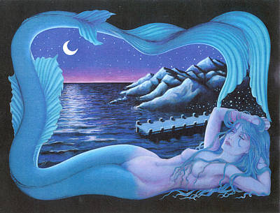 Sleeping Mermaid Art Print by Bobby Beausoleil