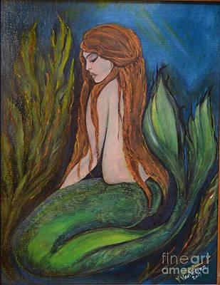 Painting - sleeping Mermaid by Valarie Pacheco