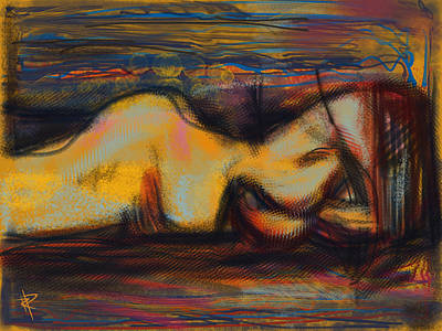 Mixed Media - Sleeping Nude by Russell Pierce