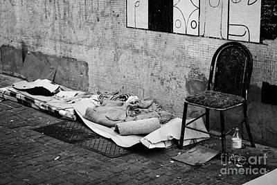 sleeping rough on the streets of Santiago Chile Art Print by Joe Fox