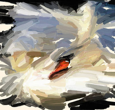 Pet Portraits Digital Art - Sleeping Swan by Yury Malkov