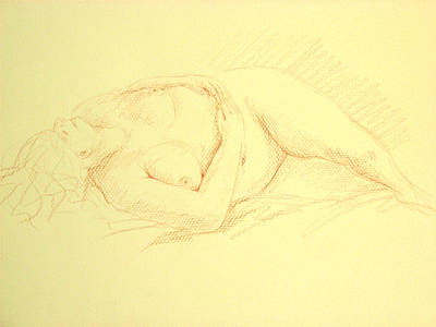 Sleeping Woman Art Print by Deborah Dendler