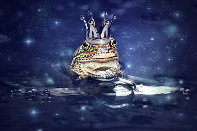 Sleepless Frog Prince Art Print by Heike Hultsch