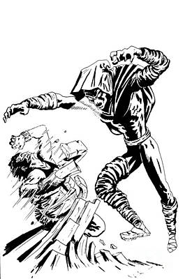 Spider Man Drawing - Sleepwalker Inked by Justin Moore