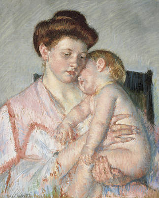 Cassatt Painting - Sleepy Baby by Celestial Images