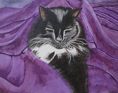 Painting - Sleepy Cat by Carol De Bruyn