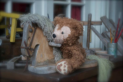 Art Print featuring the photograph Sleepy Cowboy Bear by Thomas Woolworth