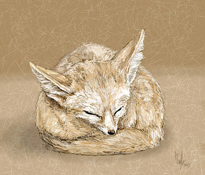 Digital Art - Sleepy Fox by Hannah Taylor